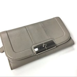 Coach Large Gray Wallet with matching Checkbook